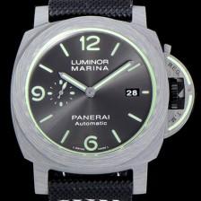 [파네라이]남성용 루미노르 마리나 1950 파브라테크 오토매틱 44미리 그레이다이얼 PAN74778